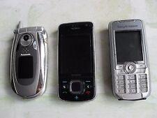 old mobile phones-Nokia 6210 navigator- Sony ericson k700i- Panasonic eb.x700