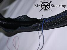 Pour 59 + Daimler SP250 Perforé Housse Volant Cuir Bleu Double Point