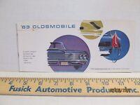 1963 Oldsmobile Dealership Pocket Sales Brochure F-85 Cutlass Starfire 88 98