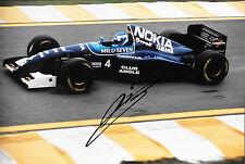 Mika Salo firmado 12x8, F1 Tyrrell-Yamaha 023 GP brasileño Interlagos 1995