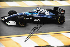 MIKA SALO firmato 12x8, F1 TYRRELL-YAMAHA 023 GP BRASILE INTERLAGOS 1995