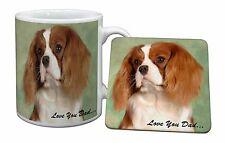 Cavalier King Charles 'Dad' Mug+Coaster Christmas/Birthday Gift Idea, DAD-115MC