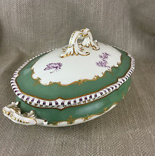 Antique royal worcester légumier couvert serving dish bol chinois chippendale