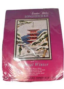 CREATIVE STITCHES LONGSTITCH KIT No. 01-201 Oriental Winter sealed & unused