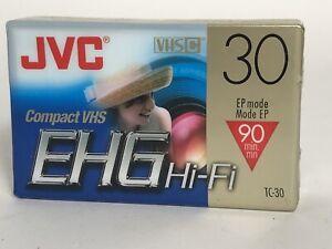 JVC VHS-C Compact video tape #TC-30 EHGDU. New. Sealed