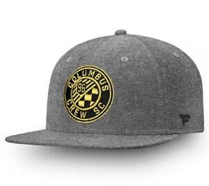 Columbus Crew SC Adidas MLS Snapback Hat Cap Gray Soccer Throwback Old Logo NEW