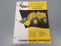 Rare Pettibone Speedall 125A Tractor Shovel Sales Sheet