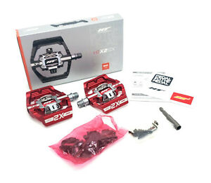 HT Components X2-SX Platform/Clipless Evo Bike Pedals Red w/Cleats MSRP $180