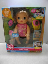 BABY ALIVE GO BYE BYE DOLL BLONDE NIB CRAWLS TALKS W/ ACCESSORIES