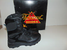 Thorogood Mens Black Leather Night Recon Shoes 834-6330 Mens 6.5 Women 8.5 M NEW