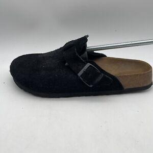 Birkenstock Boston unisex size EU 41/ US 10 narrow black Suede Leather Clogs