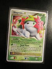 EX Pokemon SHAYMIN LV.X Card PLATINUM Set 126/127 Ultra Rare Holo TCG 100 HP