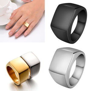 Fashion Men's Classic Square Ring Wedding Ring Signet Ring Jewelry Party Gift