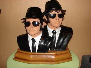 Blues brothers Buste 1/2 rare, John Belushi, Dan Aykroyd