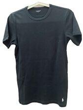 Polo Ralph Lauren Camiseta Chaleco Negro pequeño logotipo en blanco buena condición genuina