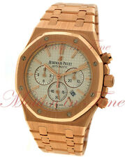 Audemars Piguet Royal Oak Chrono 41mm Rose Gold Silver Dial 26320OR.OO.1220OR.02