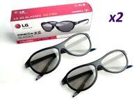LG Original Passive Brillen x 2 pcs AG-F310 für alle Modelle 3D TV LED UHD NEU