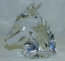 Vintage Saint St Louis France Crystal Art Glass Bull Figural Paperweight