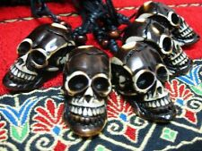 Wholesale Lots 10pcs Retro Gothic Dark Skull Black Cord Pendant Necklace FREE NG