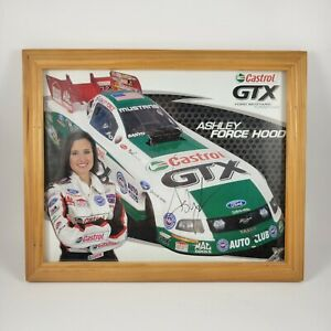 Ashley Force Hood Autographed Signed Castrol GTX Racing Car Picture Photo