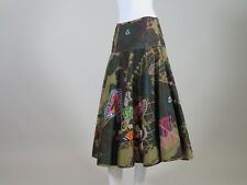 OILILY FLORAL FLORAL PRINT & EMBROIDERED CIRCLE SKIRT