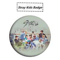 Kpop Stray Kids Fashion Chest Pins for Bag Hats Clothes Round Badge Brooch Gifts