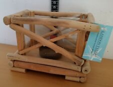 Driftwood Tea Light Rustic Wooden&Glass Candle Holder
