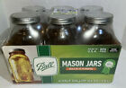 BALL 64oz, Half Gallon Mason Jars Wide Mouth Made in USA 68100  - 6 Pack, NEW