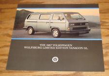 Original 1987 Volkswagen VW Wolfsburg Vanagon GL Sales Sheet Brochure 87