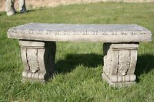 Large Stone Cast Curved Garden Bench Heavy And Solid - Made To Last! (BEN2)