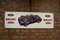 ford escort XR3I mk3 Cabriolet large pvc banner  garage  work shop   banner