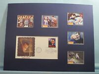 """""""Dracula"""" by Bram Stoker starring Bela Lugosi & First Day Cover of Dracula stamp"""