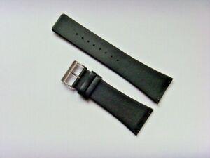 Uhrband Leder schwarz 30 mm Einschubband 11233-402 original BERING