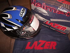 MOTORCYCLE HELMET ATTACK RACER 2 LAZER EXTRA SMALL (XS) BLACK BLUE WHITE R14