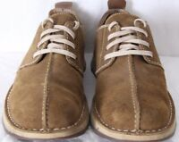 Timberland 76035 Custom Insole Tan Split Toe Stitched Casual Shoes Men's 9.5M
