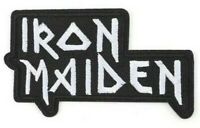 Iron Maiden logo Iron on Sew Embroidered Patch Badge heavy metal Eddie vintage