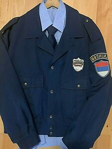 FEDERAL REPUBLIC OF YUGOSLAVIA - POLICE JACKET WITH OFFICIAL BADGE RARE