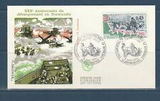 enveloppe 1er jour  débarquement allié en Normandie  14 Arromanches   1974