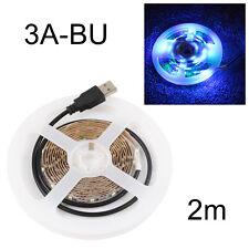 Bright LED 50CM/1M/2M USB LED Strip Lights RGB TV Back Light Decorative 6 Colors