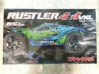 Traxxas 67076-4 Rustler 4X4 VXL Brushless RTR 1/10 4WD Stadium Truck Red New!!