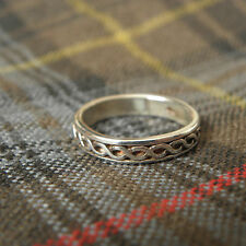 CELTIC KNOT RING ~ Size 7 Sterling SILVER ~ Made in Scotland Knotwork FAST SHIP