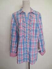 Bluse Tunika BRAX Longbluse Hemdbluse VIOLET 48 Karo blau rosa wie NEU /QR1