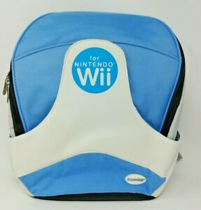 DREAM GEAR NINTENDO WII CONSOLE TRAVEL BACKPACK - Sky blue and white