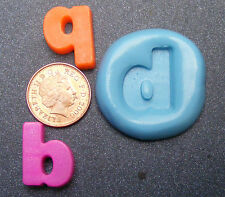 "Reusable Letter ""b"" Or ""q"" Silicone Food Safe Mould Sugarcraft Jewellery Tumdee"