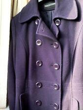 Women's size 12 BHS purple Italian wool winter coat
