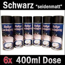 Sprühdose 6 Schwarz seidenmatt Spraydose 400ml Lackspray Autolack RAL 9005 Spray