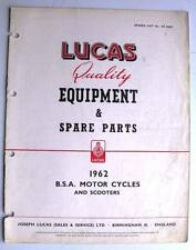 Lucas BSA Motorcycles & Scooters Equipment & Spare Parts 1962 #CE824G