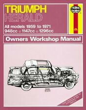 Triumph Herald Owners Workshop Manual by Haynes Publishing Group (Paperback, 2013)