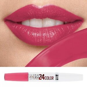 Maybelline Pink Superstay 24hr Lipstick Long Lasting Boxed 140 roaring rose