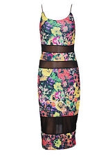 Unbranded Women's Floral Boat Neck Stretch, Bodycon Dresses